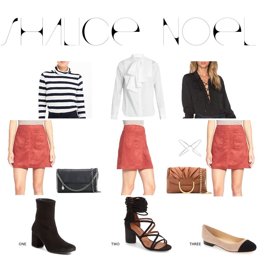 Sued Skirt Three Ways
